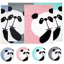 Teppich Kinderteppich mit Panda-Bär Hochwertig in schönem Design in 4 Farben
