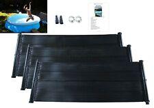 Swimming Pool Solar Hot Water Heater Mat Total PV Panel Kit Free Sun Energy Kids