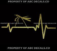 VRS Heart Beat Line ANIMAL PRAYING MANTIS Insect Mantises CAR METAL DECAL