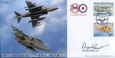 CC41 Harrier & Jaguar RAF FDC cover signed Sir Rex Hunt Falklands Governor