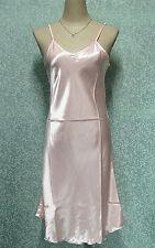 Nachthemd Satin rosa Pastell du 36 au 48