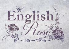 English Rose 3 sizes STENCIL ER Vintage Flower Furniture, SUPERIOR 250 MYLAR