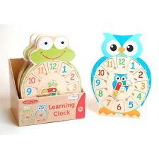 Traditional Wood 'n' Fun Learning Clock 3y+
