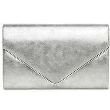 CASPAR TA349 Bolso de mano fiesta noche mujer clutch elegante metalizado señora