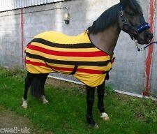 """CWELL EQUINE  HORSE COB PONY NEWMARKET STRIPE SHOW TRAVEL FLEECE RUG 5'3""""- 7'0"""""""