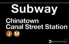 Chinatown New York City Subway Station Sign Metal
