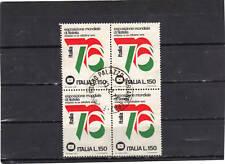 P244 - ITALIA 1976 - ESPOSIZIONE FILATELIA - QUARTINA