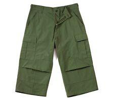 ROTHCO Mens OD 8356 BDU RIPSTOP Capri Pants w/Cargo Pockets SIZES XS to 4X