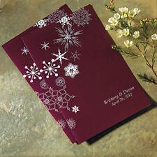 Winter Finery Personalized Wedding Programs 24/pk