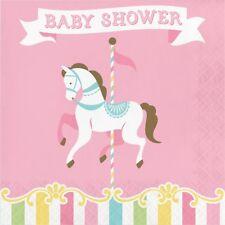 Carousel Horse Baby Shower 33cm Carta Festa Tovaglioli Tovaglioli Fazzoletti 1-112PK