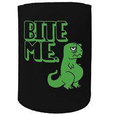 Stubby Holder - Bite Me Dinosaur Rex - Funny Novelty Birthday Gift Joke Beer