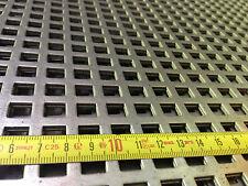 Lochblech Stahl Verzinkt (Qg 10-15) 1000 lang x 2mm Neuware Quadrat*