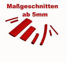 Maßgeschnittener Schrumpfschlauch rot 2:1 3:1 in 10 Größen von ISO-PROFI