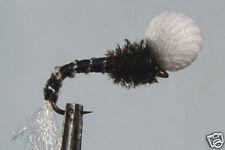 10 x Mouche de peche Chironome Noir Emergente H12/14/16 fly trout truite