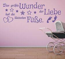 X455 Wandtattoo Spruch Kind Kinder Wunder Liebe Füsse Wandsticker Wandaufkleber