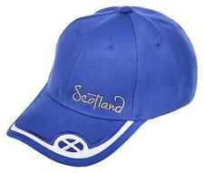 Scotland Blue Cap Front Sticker Embroidered Flag Adjustable Back Baseball