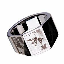 Scream Ring Tungsten Carbide Triptych Ring Skeleton Scream Mask