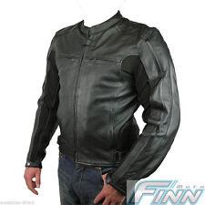 Mens Street Retro Motorcycle Sports Bike Leather Jacket Tall XS Black
