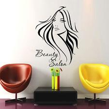 Hair Wall Decal Beauty Salon Stickers Decals Vinyl Hair Girl Woman Decor US15