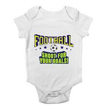 Personnalisé Drôle Bébé Gilet Baby Grow Football Comedy Hobby Sport Film Lot 15