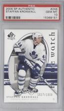 2005 SP Authentic 246 Staffan Kronwall PSA 10 GEM MT Toronto Maple Leafs RC Card