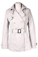 Damen GRABEN weiß (1123) Klassisch Hüftlang Lammleder Nappa Leder Jacke Mantel