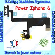 NAPPE FLEX DU BOUTON POWER ON/OFF + FLASH + MICRO SECONDAIRE POUR IPHONE 6
