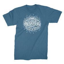 Authentic WAYLON JENNINGS Buckle Logo T-Shirt Blue S M L XL 2XL NEW