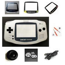 NEW GBA Nintendo Game Boy Advance Replacement Housing Shell Screen Lens Silver!