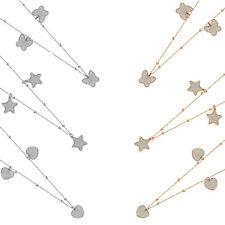Collana Donna BOCCADAMO MYA GLOSS con Elementi Glitterati Pendenti Logati