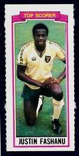 TOPPS-1981-FOOTBALLERS- #156-NORWICH CITY-TOP SCORER 1980-81-JUSTIN FASHANU