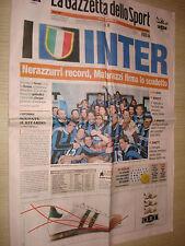 GAZZETTA DELLO SPORT 23-04-2007 FC INTER CAMPIONE D'ITALIA N°15 INTERNAZIONALE