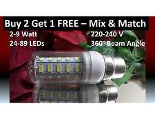 2-9 Watt 24-69 LED Light Bulb B22 Bayonet Cap Beautiful Cold Bright White Light