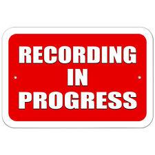 Plastic Sign Recording in Progress