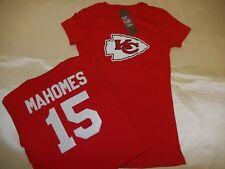 81015 WOMENS Kansas City Chiefs PATRICK MAHOMES Crew Neck Jersey Shirt RED New