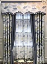 Premium Thick Long Drape 90% Blockout Fine Jacquard Fabric Eyelet Curtains Color