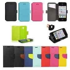 ^ Hülle Etui Flip Leder-Imitat Flexi Book Case Silikon Klapp Tasche Handys 3