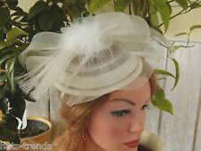 Ornamento per testa bianco crema Ascot MATRIMONIO FESTE ELEGANTE CAPPELLO