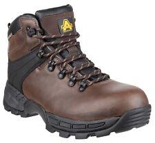 Amblers FS420 caimen Impermeabile Sicurezza Lavoro Stivali Marrone Hiker 6-12 Toe & MID