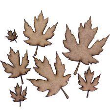 Maple Tree Leaf Craft Shapes, 2mm MDF Wood. Autumn Leaf. Various Sizes