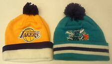 NBA Mitchell and Ness Hardwood Classics Pom Cuffed Knit Hat Beanie Cap M&N NEW!