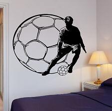 Soccer Kick Football Ball Sport Decor Cool Interior Living Room Decal (z2720)