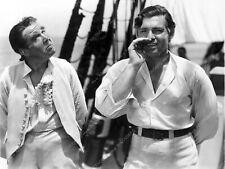 8b20-6916 Charles Laughton Clark Gables relax on set Mutiny on the Bounty 8b20-6