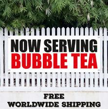 Banner Vinyl Now Serving Bubble Tea Advertising Sign Flag Many Sizes