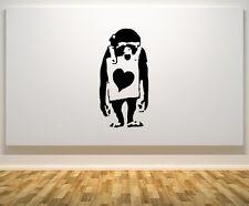 Banksy SCIMMIA Sandwich board CUORE INSEGNA MOTTO ARTE Adesivo Decalcomania FOTO