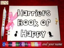 Nombre Personalizado Scrapbook feliz chica notas recuerdos fotos diario de Regalo Navidad