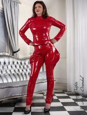 Lackhose Hose Rot Zipper Breeches Lack Vinyl Größe 32 - 58 XS - XXXL