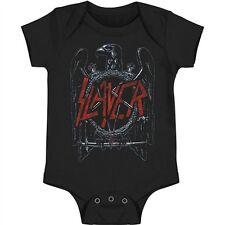 New Slayer Eagle Logo Pentagram Baby Romper One Piece 6-18 Months badhabitmerch