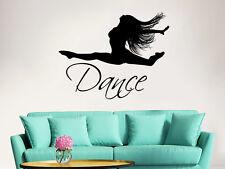 Dance Wall Decal Ballet Dancing Ballerina Quote Vinyl Sticker Dance Studio ZX7