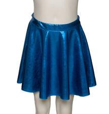 Kingfisher Blue Shiny Metallic Dance Circular Skirt KDSK01 Katz Dancwear SECONDS